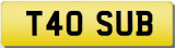 SUB SUBARU  Private CHERISHED Registration Number Plate # TRANSFER FEE INC.#